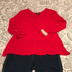Gauzy Blouse - 🍅 Red